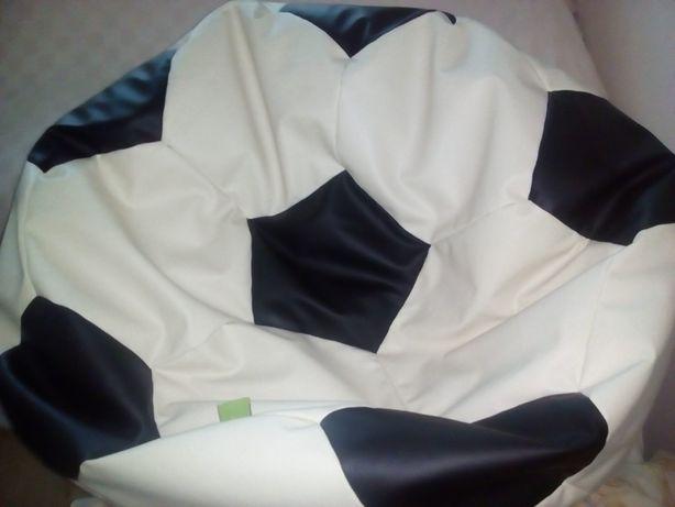 Кресло бескаркасное большое пуфик футбольный мяч кожа Поль
