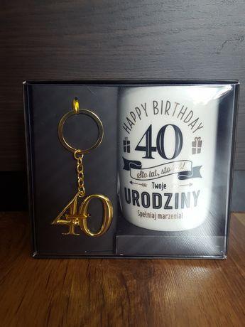 Zestaw kubek + brelok prezent na 40 urodziny