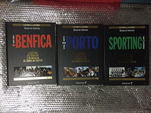 Livros Benfica, Sporting, Porto