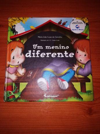"""Livro """"Um menino diferente"""""""