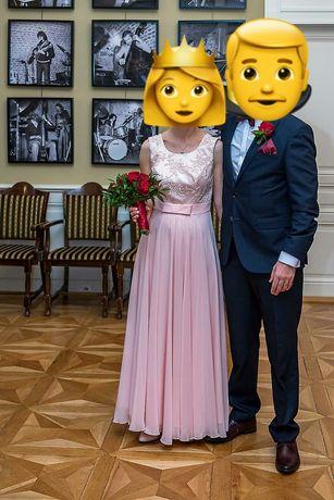 Sukienka na ślub cywilny/poprawiny/wesele/wieczorowa i Futerko ślubne