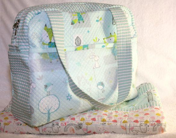Комплект для новорожденных на подарок Hand Made сумка+ одеялко