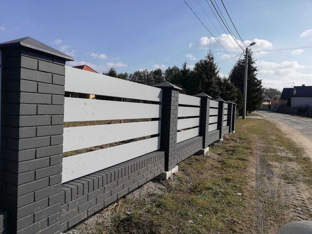 OGRODZENIE betonowe A'LA KLINKIER IMITACJA Klinkieru słupek murek