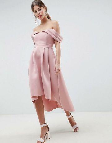 Платье розовое из неопрена Asos