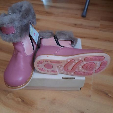 Новые! Зимние натуральные ортопедические сапоги ботинки Ecoby 29