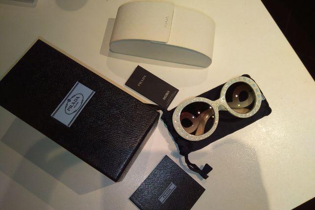 Okulary przeciwsłoneczne PRADA oryginalne z kryształami kryształy