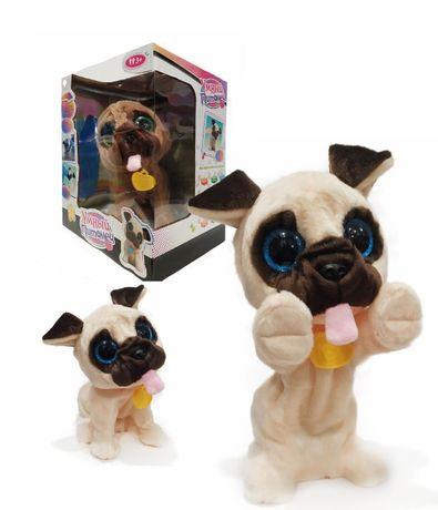 Игрушка собака мопс интерактивная Умный питомец