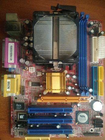 Материнская плата Biostar K8M800-M7A., проц., оперативка+