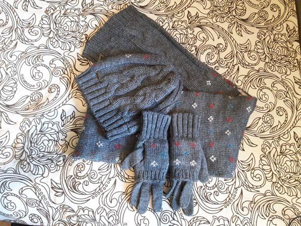 Шарф,шапка,перчатки