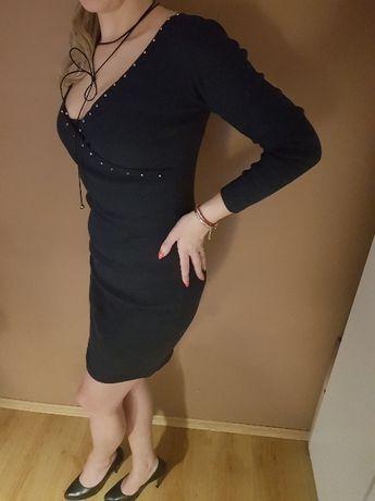 sukienka z perełkami nowa rozmiar M-L