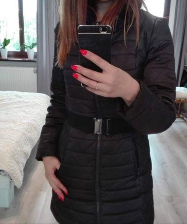 Płaszcz zimowy czarny / kurtka r. S