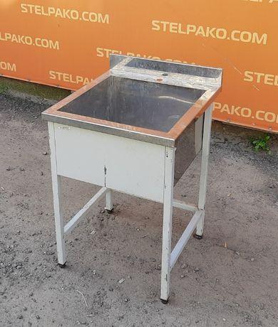 Мойка 1-секционная из нержавеющей стали, 85х50х60 см., Б/у 63056