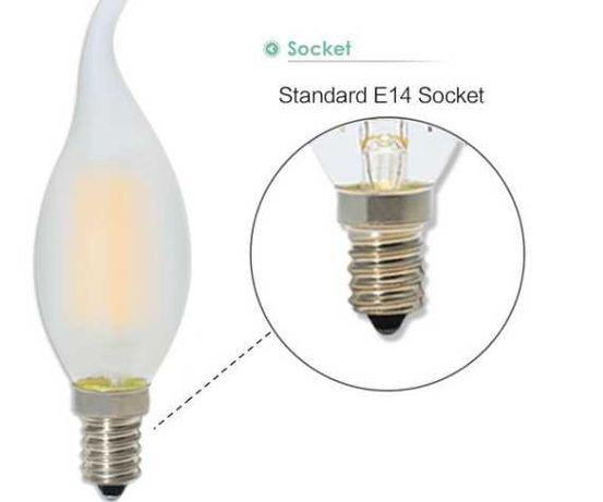5szt 4W ściemniana żarówka świecowa LED zestaw