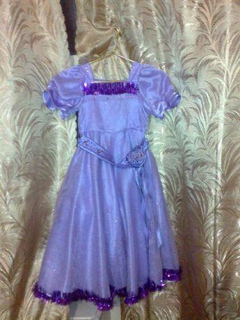 Платье нарядное лиловое ( утренник - свадьба)