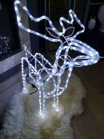 Renifer led świecący. Idealna ozdobą świąteczna Dom Taras Balkon Ogród