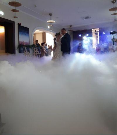 Ciężki dym / napis Miłość