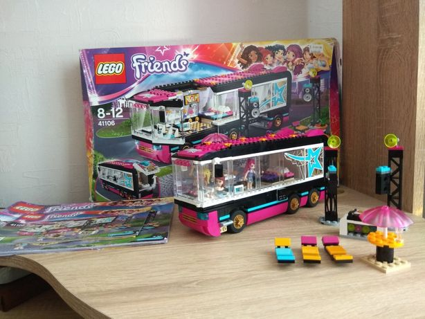 Lego friends автобус гастроли поп звезды 41106