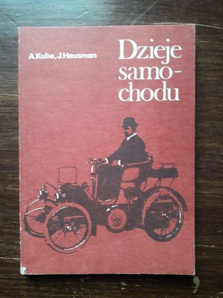 Książka Dzieje samochodu, A. Kuba, J. Hausman
