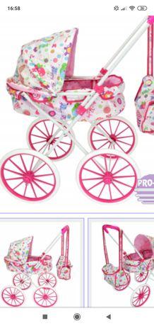 Wózek dla lalki Pro Kids z dużymi kołami. Nowy wózek .