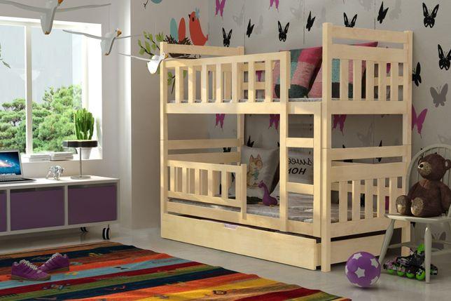 Sosnowe łóżko z materacami w zestawie! Kolory do wyboru