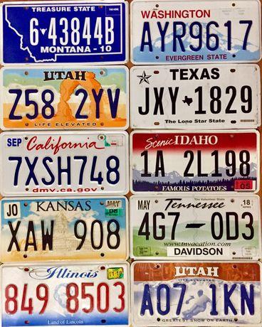 Американские номерные знаки США авто номера USA license plates