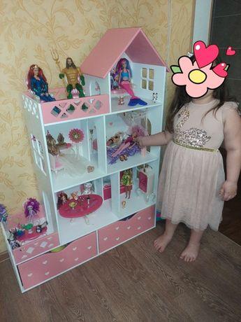 Домик для кукол ,кукольный домик, дом для куклы, дом домик для Барби
