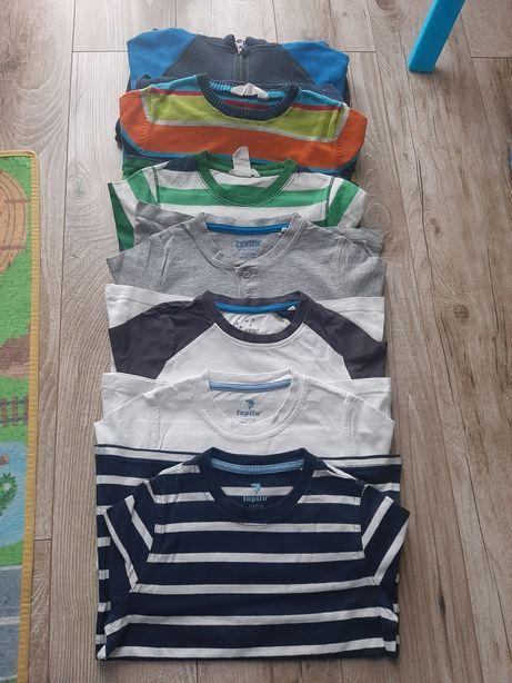 Bluzki na długi rękaw, sweter, bluza r 110/116