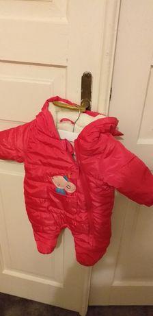 Kombinezon na zimę dziewczynka różowy rozmiar 62