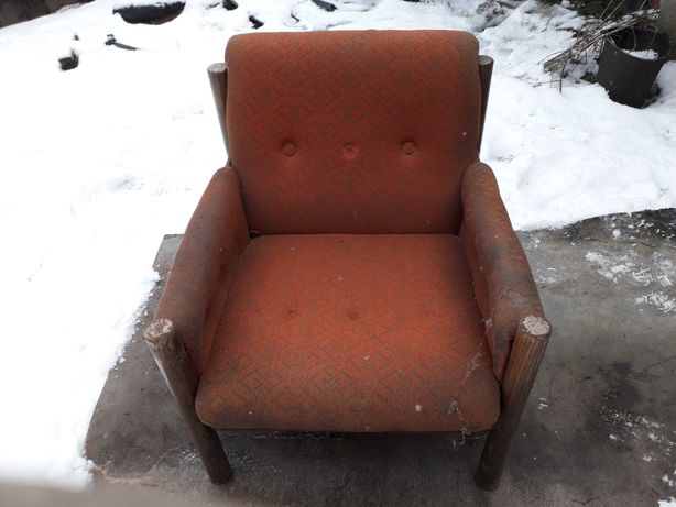 Fotel prl retro vintage do renowacji