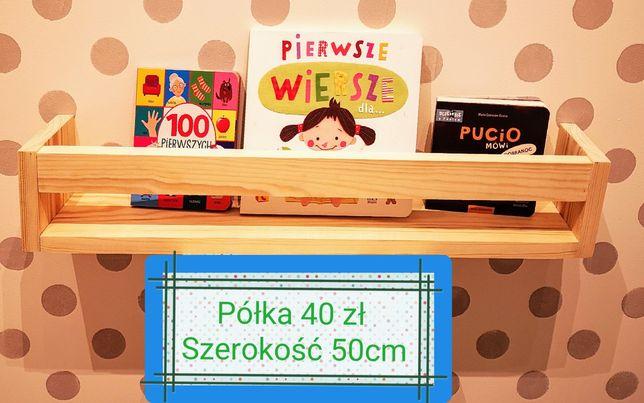 Nowa Półka na książki Bibloteczka Regał domek Styl Skandynawski