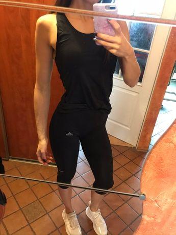 koszulka czarna damska bez rękawów 36 S 38 M trening siłownia bluzka b