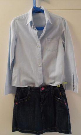 Conjunto saia da Girândola e blusa da Tiffosi