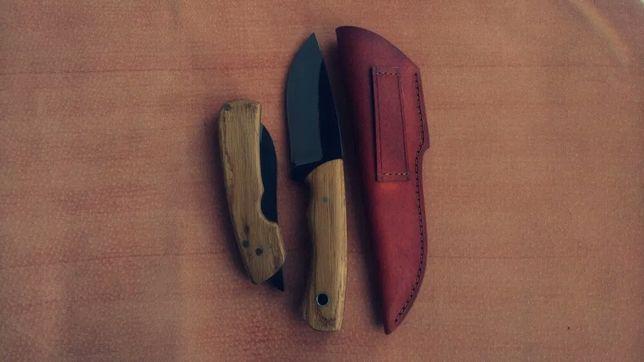 Zestaw Bieszczadnika Nóż Custom Ręcznie Robiony 50HF