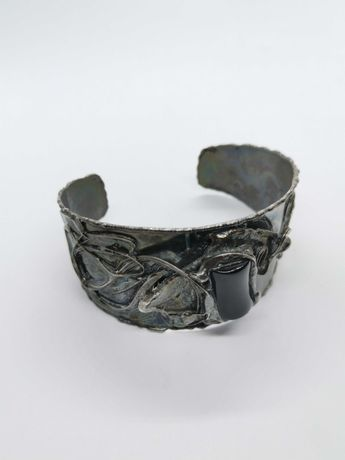 bransoletka artystyczna z metaloplastyki rękodzieło Cu/Ag Eremit