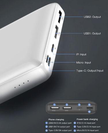 Портативное зарядное у-во. Baseus Mini JA PowerBank 30000mAh павербанк