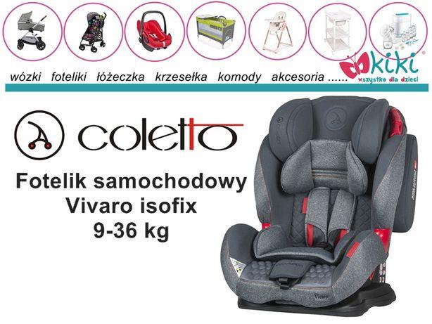 Fotelik samochodowy dla dziecka Coletto Vivaro isofix 9-36 kg