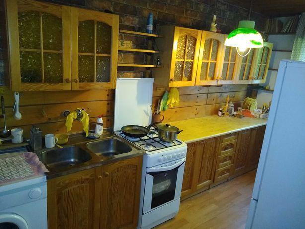 Meble kuchenne z pralką i kuchenką