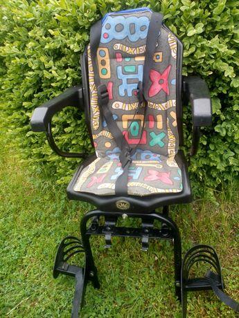 Fotelik rowerowy na bagażnik dla najmłodszych