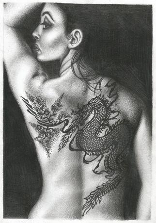 """Ilustração Original """"Girl With the Dragon Tattoo"""""""