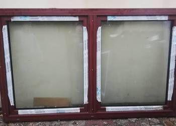 okna inwentarskie 160x50 dwuskrzydłowe MAHOŃ