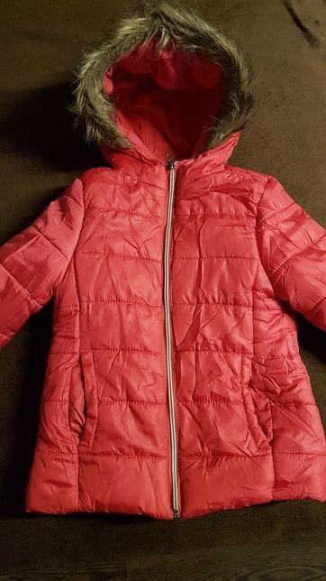 Śliczna kurtka dla dziewczynki 122 cm