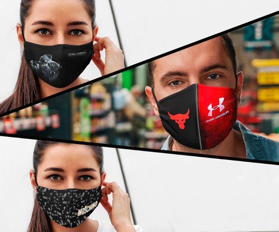 Бренды мира. Защитная маска Adidas, Nike, Puma, Chanel, Gucci