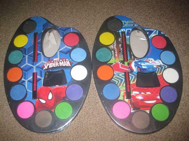 2 Kits de Aguarelas do Homem Aranha e do Carros/Novos!
