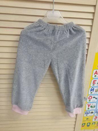 Штанишки со стразами, штаны спортивные. Габби.