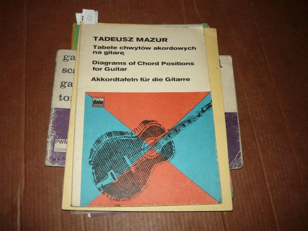 Tabele chwytów akordowych na gitarę-Mazur