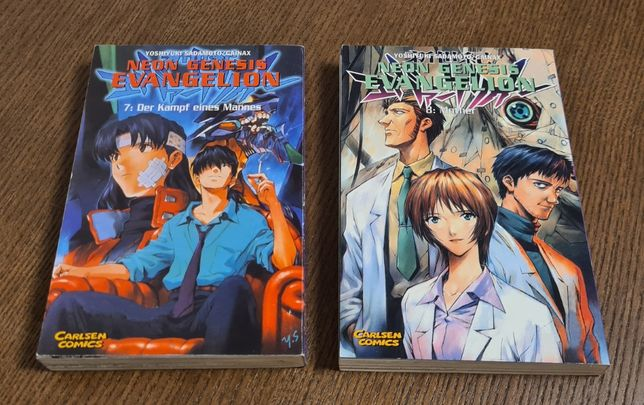 Neon Genesis Evangelion - manga tom 7 i 8 j.niemiecki