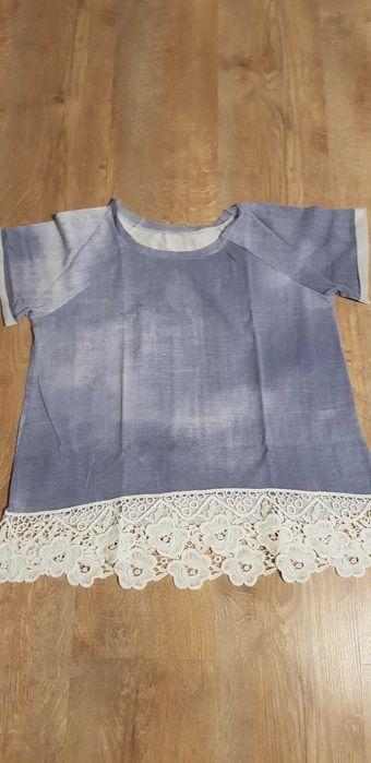 Bluzka z koronką a'la jeans uni Leszno - image 1