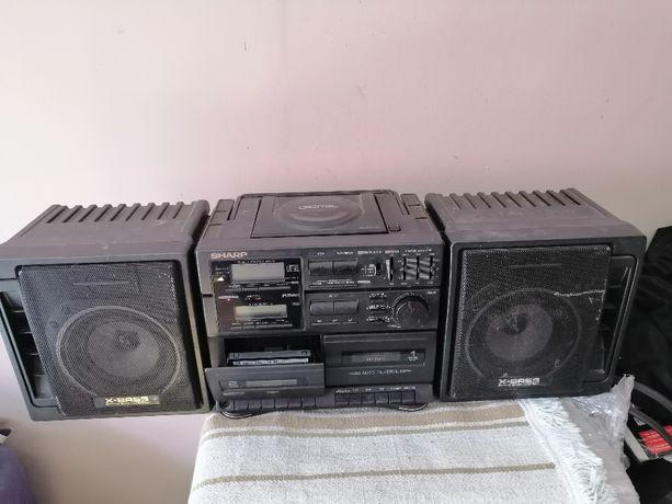 Radio Boombox SHARP GX-CD 75H Boombox-Ghettoblaster