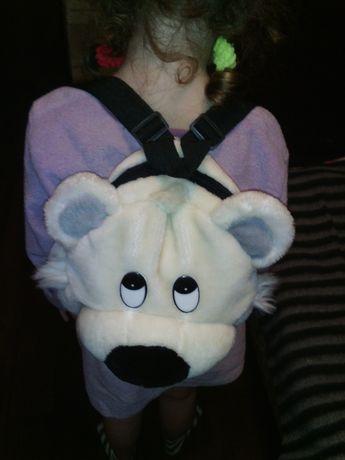 Рюкзак - мишка белый