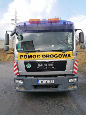 Pomoc Drogowa Autolaweta Transport Maszyn do 6Ton